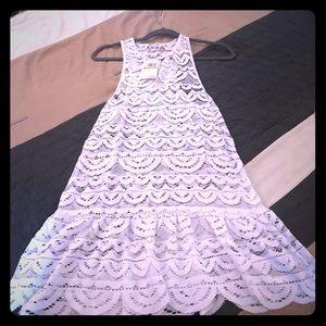 Juniors' Crochet Racerback Dress Cover-Up